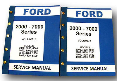 Ford 2000 3000 4000 5000 7000 Tractor Workshop Service Repair Manual Parts Cat Agriculture/farming