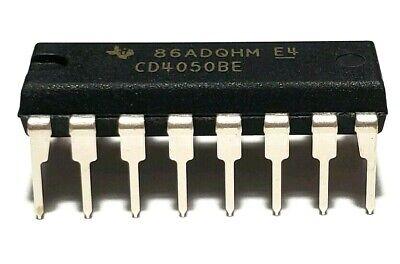 10Pcs CD4050BE CD4050 4050 Hex Buffers Converters CMOS to DTL TTL DIP-16