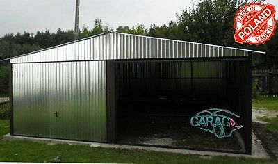 Fertiggarage 6x6m 6x6m satteldach mehrzweck blechgarage garage fertiggarage