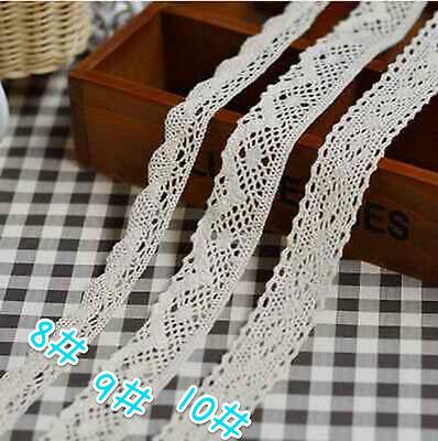 10 Diverse Vintage Cotton Soluble lace Crochet Trim Wedding Bridal Ribbon Sewing 5