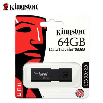 Kingston DT100G3 8GB 16GB 32GB 64GB Data Traveler 100 G3 USB 3.0 Flash Pen Drive 5
