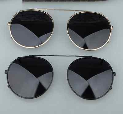 dc0f3de6da5 ... Johnny Depp Clip-on Sunglasses Lens Round Polarized Flip-up Sunglass  Lens 44mm 5