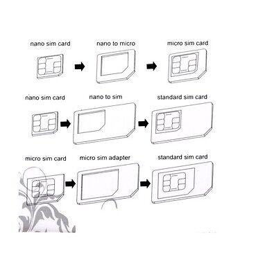 Neu Click-System Universal Sim Karten Adapter Set Nano Micro Handy Tablet Z12 4