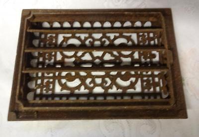 Vintage Ornate Heat Register Cast Iron Wall Floor Grate Heat Vent 2