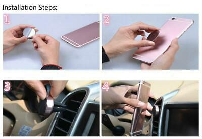 In Car Magnetic Phone Holder Mobile Fit Air Vent Universal Mount Various Colours 4