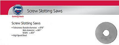 ".051"" Thick x 1-3/4"" Diameter x 5/8"" Arbor Hole 90 Teeth HSS Screw Slotting Saw 2"