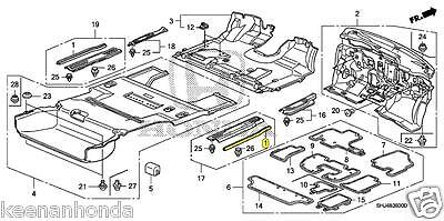 Genuine OEM 2005-2010 Honda Odyssey Rear Sliding Door Weatherstrip Set