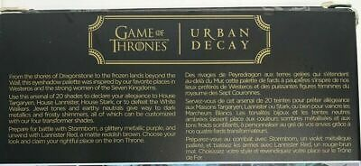 URBAN DECAY Game of Thrones Vault 20 Piece EYESHADOW Set LIMITED Ed Sold OUT NIB 3