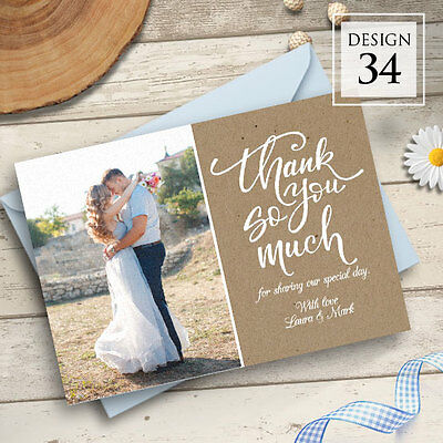 Personalised Wedding Thank You Cards Includes Envelopes + Your Photos