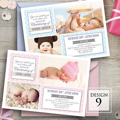Personalised Photo Christening • Baptism • Naming day • invitation • Boy • Girl