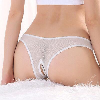 Rio Perlen Tanga Weiss Spitze sexy Panty ouvert im Schritt offen Erotik 34 36 38