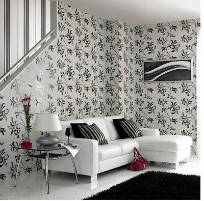 Graham Brown Superfresco Easy Wallpaper Black Cream Sacha