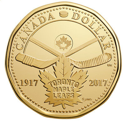 2017 Canada Toronto Maple Leaf 100th Anniversary $1 Dollar Loonie 5-Coin Pack 2