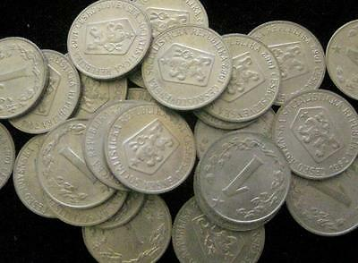 Czechoslovakia 3 Haleru 1953-63  XF-UNC Lot of 25 Coins