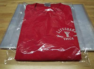 "9"" x 12"" Poly Clear Plastic T-Shirt Apparel Bags 1 Mil 2"" Back Flap Lock 10-1000 3"