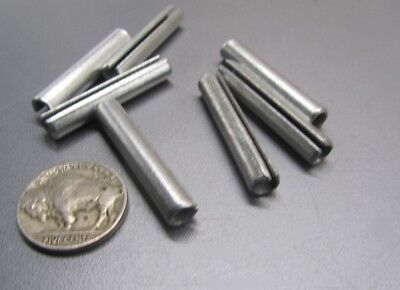 """Zinc Plate Steel Slotted Roll Spring Pin, 1/4"""" Dia x 1 3/8"""" Length, 100 pcs 5"""