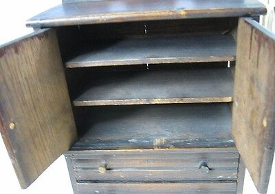 Antique 1860's Doll or Sample Empire Style Chest Nice Style 4