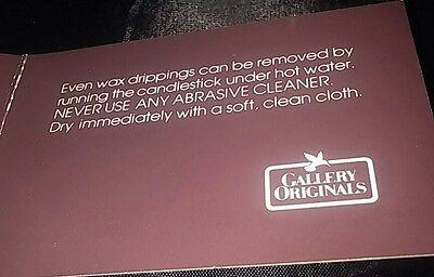Avon Gallery Original Silvertone Convertible Candlestick Set 2 NEW IN BOX 1984 7
