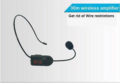 FM Wireless Micphone Headset For Transmitter Loudspeaker Amplifier Voice Booster 6