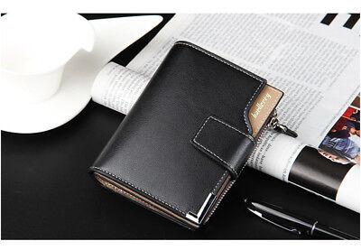 Men Leather Wallet ID Credit Card Holder Clutch Bifold Pocket Zipper Coin Purse 5