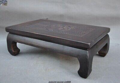 China Huanghuali wood carve Dragon beast Classical Furniture Side Table Tea Desk 3