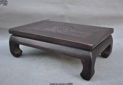 China Huanghuali wood carve Dragon beast Classical Furniture Side Table Tea Desk 6