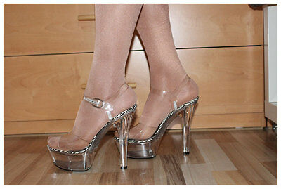 JANTE PLATEAU PUMPS Gr. 4041 US10 High Heels mit