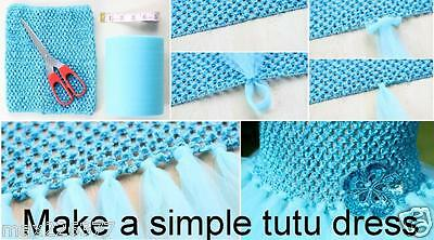 new crochet tutu tube elastic top girl newborn child tween teen Jr adult black