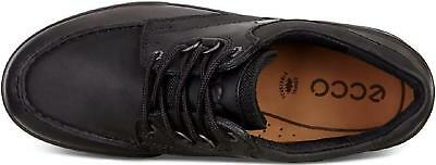ECCO TRACK 25 Mens Leather Waterproof Tough Durable Lace Up Walking Shoes Black
