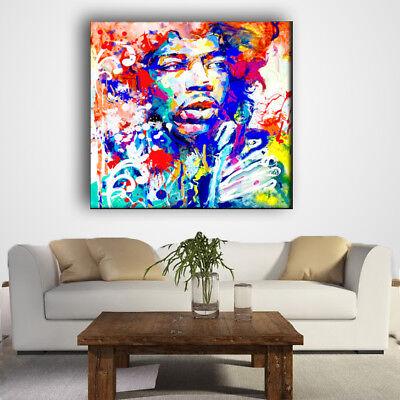 Quadro Moderno Astratto Stampa Su Tela Pittorica Jimi Hendrix Abstract 2