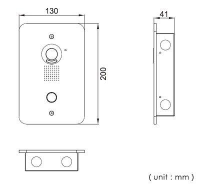 2 Draht Video Türsprechanlage Gegensprechanlage 2x 7 Zoll Monitor Klingel Farb 5