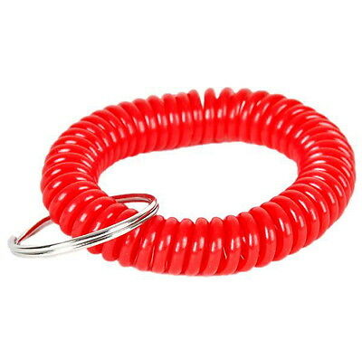Lot Of 6 Spiral Keychains Key Chain Wrist Coil Chains Elastic Fast Shipping 2