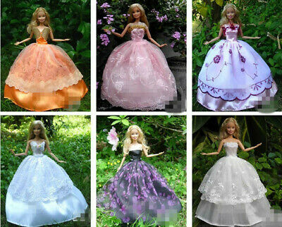 15 items=5* Fashion Handmade Party Dress/Clothes/Gown +10 shoes For 29cm Doll 5