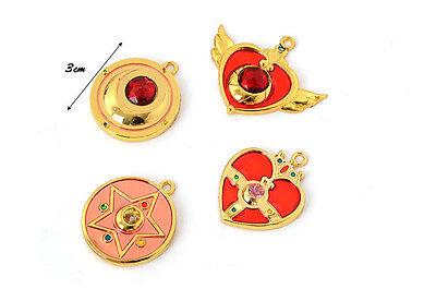 12pcs//set Anime Sailor Moon Zecter Cane Necklace Pendant Silver Color