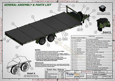 Trailer Plans- 6m FLAT TOP TRAILER PLANS- PRINTED HARDCOPY- Car Trailer, Flatbed 7