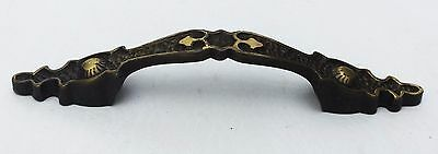 "Antique hardware vintage cabinet drawer pull MidCentury Modern 3""  center 2"