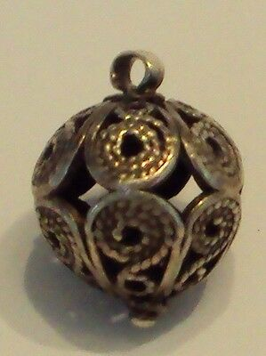 Amazing Post-Medieval Silver Pendant With Filigree # 477 2