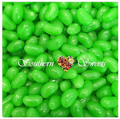 1KG GREEN JELLY BEANS Lollies Candy Buffet Bulk Green Apple Flavoured Lollies 2