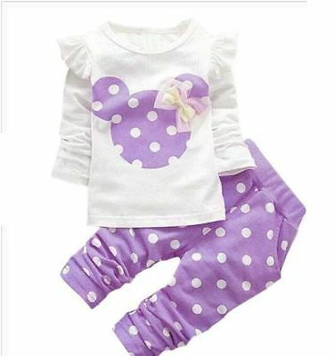 Baby clothes kids girls tops+pants Set Outfits autumn clothing dot 5