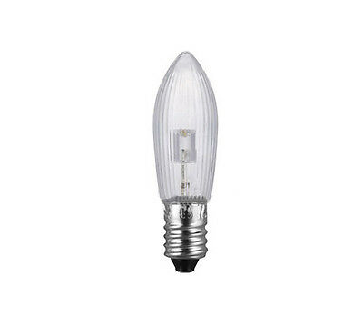 50Stk LED E10 Topkerzen Riffelkerzen Spitzkerzen Ersatz Lichterkette 0,2W 10-55V 12