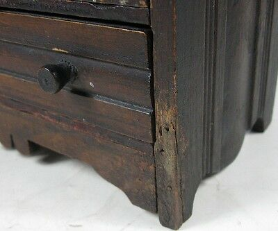 Antique 1860's Doll or Sample Empire Style Chest Nice Style 9