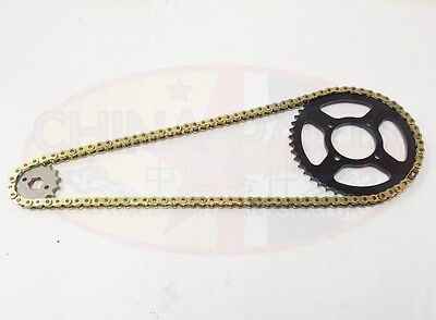 Rear Disc Chain /& Sprockets Set Gearing Upgrade GOLD for Pulse Adrenaline 125