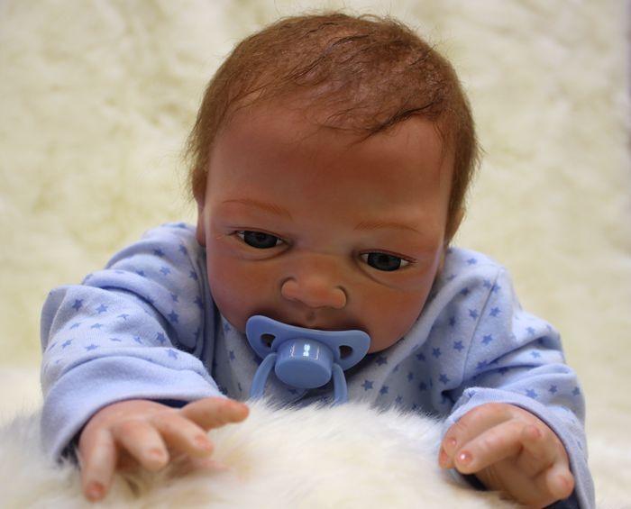 """20"""" Full Body Realistic Reborn Dolls Lifelike Baby Boy Newborn Doll Gifts 3"""