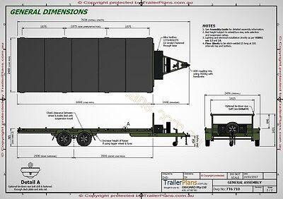 Trailer Plans - 6m FLAT TOP TRAILER PLANS - PLANS ON CD-ROM -Flatbed,Car Trailer 6