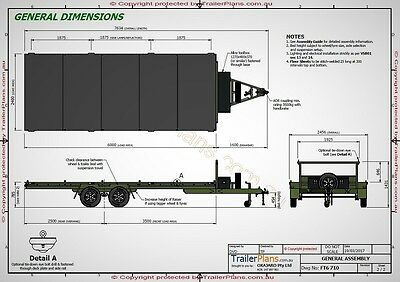 Trailer Plans- 6m FLAT TOP TRAILER PLANS- PRINTED HARDCOPY- Car Trailer, Flatbed 3
