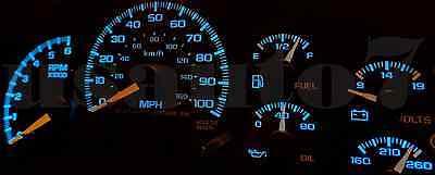 Dash Instrument Cluster Gauge AQUA BLUE LED LIGHT BULB KIT Fit 99-02 Chevy Tahoe