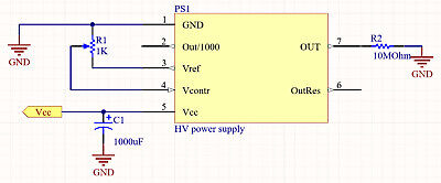 High voltage power supply for photomultiplier (PMT) or Ionization chambers 4