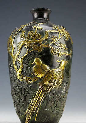 excellent Dynasty Vintage Collection Bronze Statues Flower pot 20cm 2