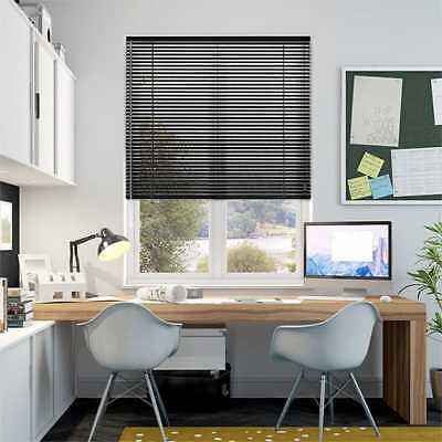 Window Blinds Easy fit PVC Venetian Blinds Wood Effect Trimable Home Office New 3