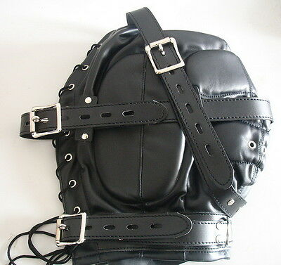 Schalldichte Kunstleder Maske/ Soundproof Leather Hood 2